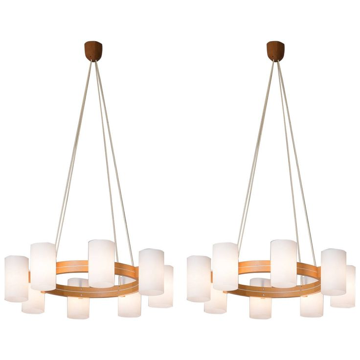 Set of Two Scandinavian Chandeliers by Luxus | 1stdibs.com