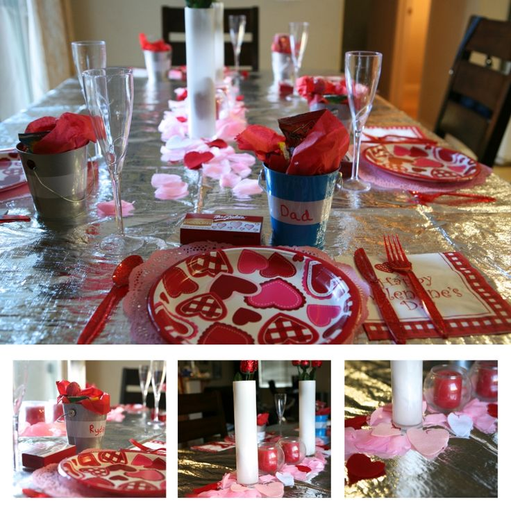 Fancy Family Valentines Dinner fun tradition and most supplies from Dollar Store!