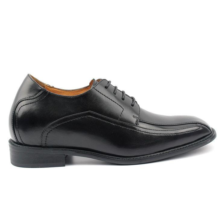 1 inch black dress shoes for men