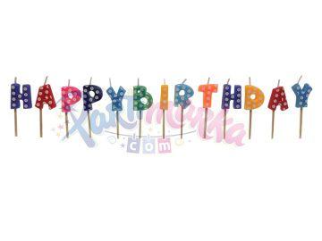 Happy Birthday Yazılı Doğum Günü Mumu