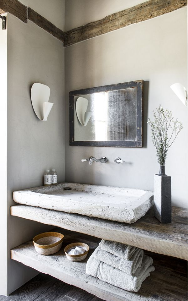 17 best ideas about concrete sink bathroom on pinterest concrete sink concrete basin and - Chic renovation design ideas with rustic exterior and modern interior ...