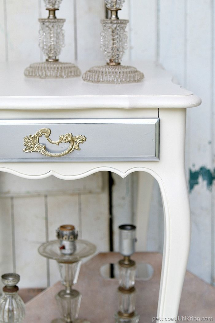 Glitzy Silver And Gold Metallic Furniture Facelift Project. I Love Using  Spray Paint On Furniture