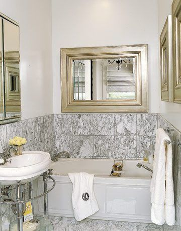 Small Bathroom Mirror To Reflect Light And Spacious Efect  Design Small Bathroom Ideas On A Budget Check more at http://www.showerremodels.org/347/design-small-bathroom-ideas-on-a-budget.html