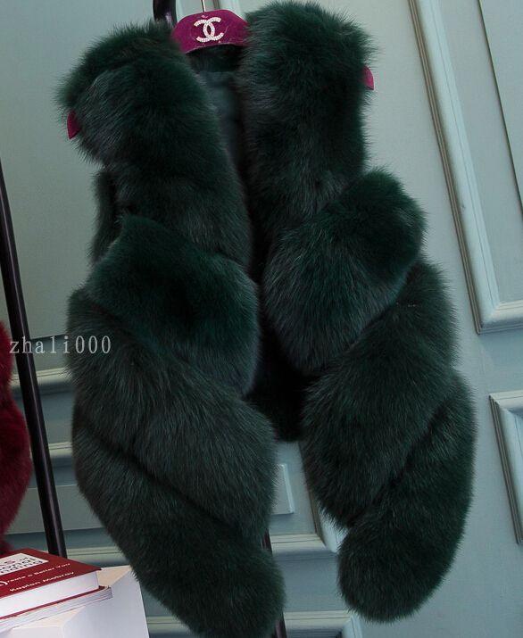 New Design Fashion Natural Whole Fox Fur Vest Women Real Fur Waistcoat Winter Overcoat Girl Vest Jacket Rich Fox Fur Gilet 10434