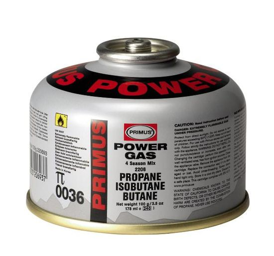 $7.50    Primus Self-Sealing Power Gas Canister, 100 grams - P-2206