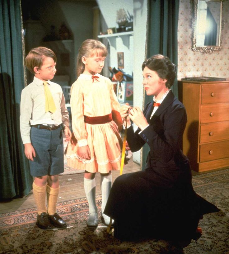 Mary Poppins-always be prepared: Lamp? Check. Mirror? Check. Hatstand? Check. Wildly accurate tape measure featuring names of Banks children? Check.