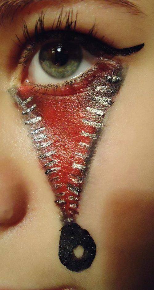 Bloody Eyes for Vampire MakeUp Ideas via