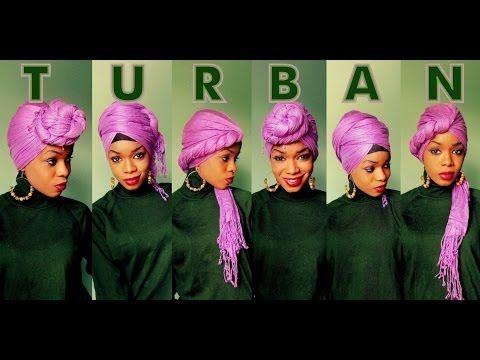 HOW TO: 5 Ways to Style a Turban | Tutorial #16 - YouTube