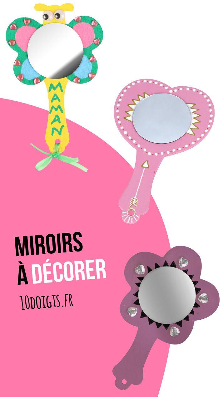 Miroir En Bois A Decorer Forme Coeur
