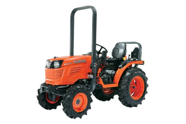 Kubota B2650-ENGINE TYPE – Kubota D1305-E4-D26CH-E, Indirect Injection, Vertical, Water Cooled, 4 Cycle Diesel ENGINE GROSS POWER – 19.1 kW (25.6 HP) PTO POWER – 14.6 kW (19.5 HP) TRANSMISSION – Infinite (3 Ranges) TURNING RADIUS – 2.1 m (w/Bi Speed) 3-POINT HITCH CATEGORY – I LIFT CAPACITY AT LINK END – 970 Kg TRACTOR WEIGHT – 755-780 Kg *Kubota Built (Optional) Front Loader
