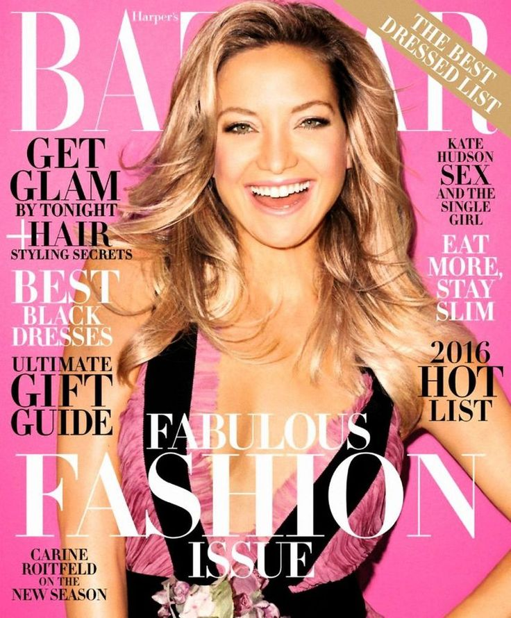 Kate Hudson - Harper's Bazaar Magazine, December 2015 : Global Celebrtities (F) FunFunky.com