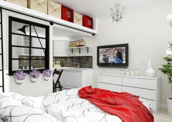 Дизайн небольшой квартиры студии, площадью 25 кв. м. | FASHION OBSESSION
