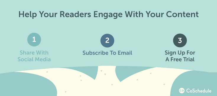 help readers engage with your content through relationship marketing