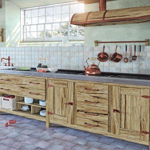 17 migliori idee su cucine rustiche su pinterest mobili - Idee case rustiche ...