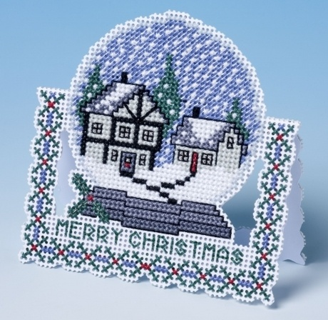 3D Snow Globe Cross Stitch Christmas Card £8.25