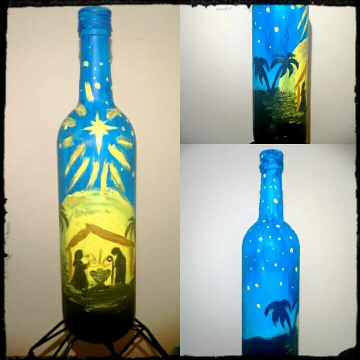 50 Creative And Out Of The Box Painted Wine Bottles For The Experimental Souls Wine Bottle Diy Crafts Painted Wine Bottles Wine Bottle Art