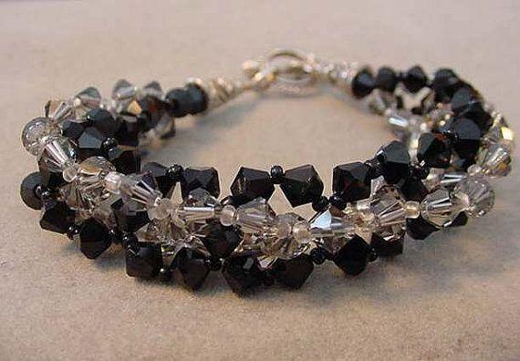 Jet Black and Black Diamond SWAROVSKI Crystal by Magicclosetbling