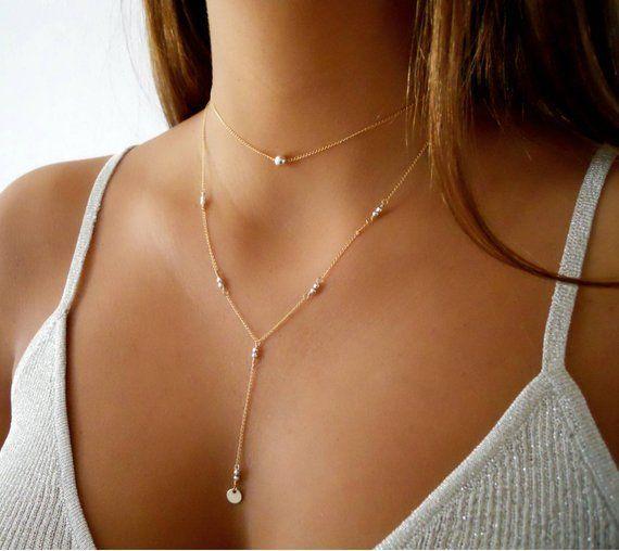 collier ras de cou or perle