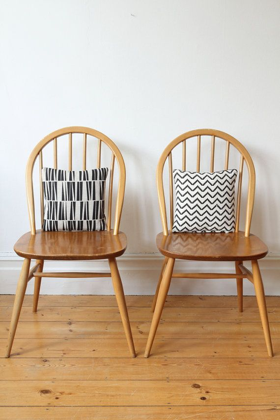 SOLD  Pair of vintage Ercol Windsor chairs by OwlAndTheElephant