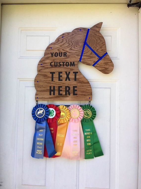 Customized Horse Show Ribbon Display /Award, 1 Ribbon Tier