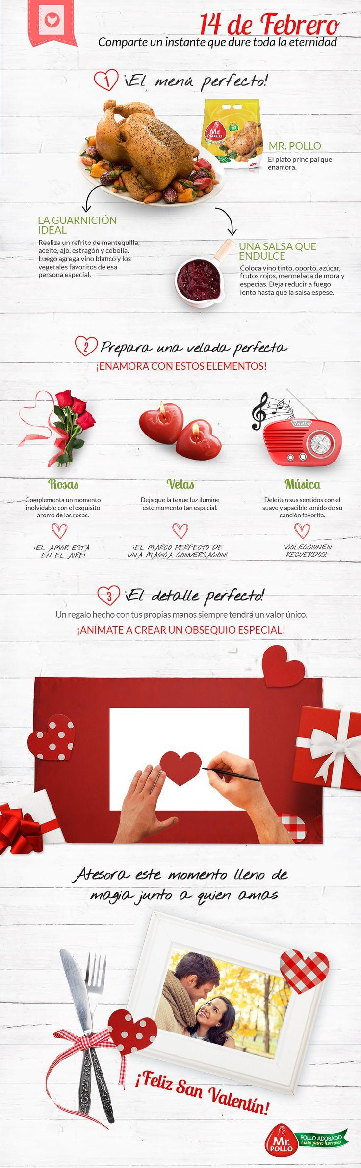 Este San Valentín, sorprende a esa persona especial y quédate con todo su cariño! Mr. Pollo Listo para Hornear te ayuda a preparar una velada llena de sabor y detalles en muy poco tiempo.