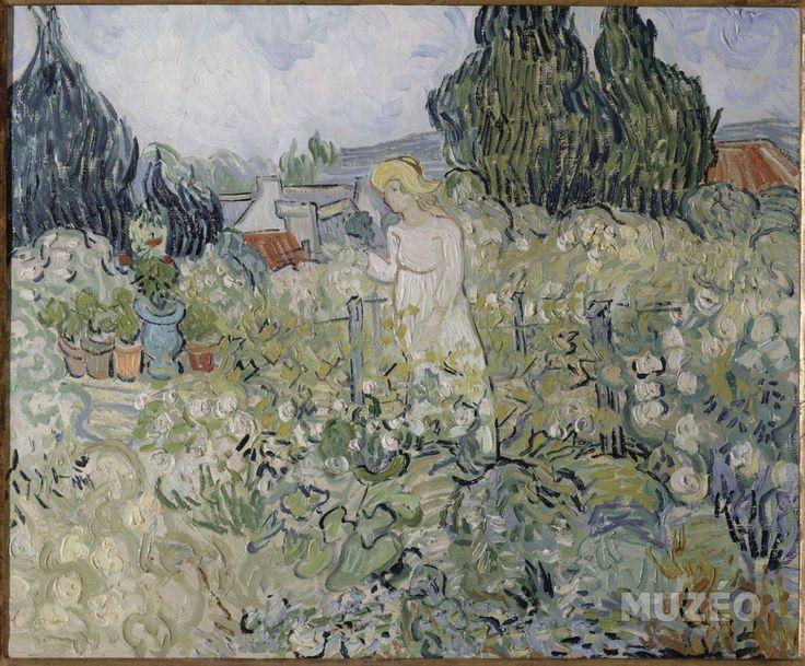 Muzéo, Edition d'art et de photo   Mademoiselle Gachet dans son jardin à Auvers sur Oise de Van Gogh Vincent © RMN /Gérard Blot #art #painting #vangogh #garden #flower