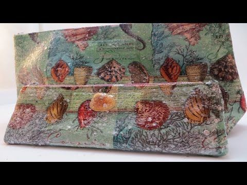 How to Decoupage a Gift with Purchase Bag - YouTube