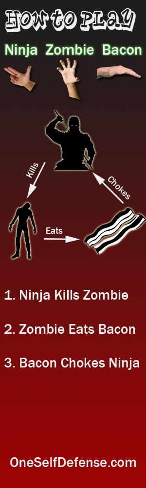 How to play Ninja Zombie Bacon  www.zombieprepnetwork.com