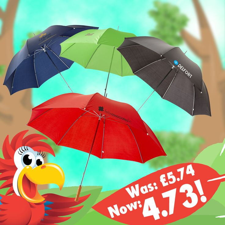 With more than a pound off, the budget couldn't be more of a save! http://www.promoparrot.com/budget-golf.html #promo #golf #umbrella