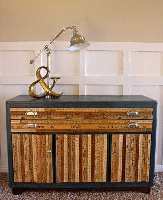DIY: Yardstick Buffet  #DIY, #Furniture, #Yardstick