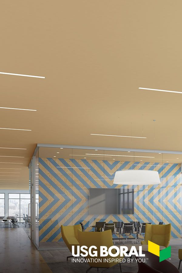 Ensemble Monolithic Acoustic Plasterboard Ceiling System Usg