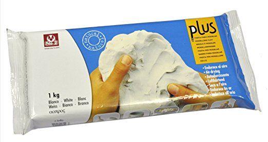 Sio2 Plus - Argilla da modellare, 1 kg, colore: bianco