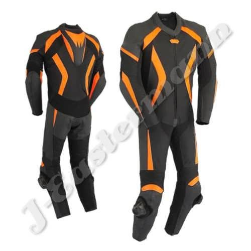 Mens 1 Piece Motorcycle Leather Racing Suit JEI-7018