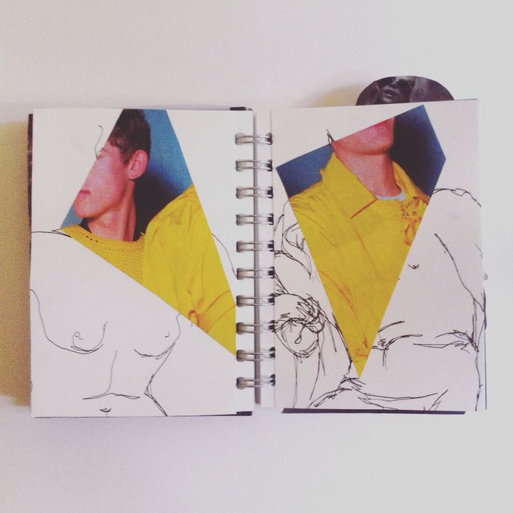 V&A museum statue drawings and some fashion magazine collages- my own work ( insta tilia_bs )