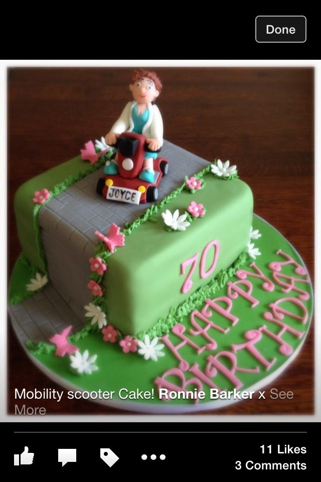 Mobility scooter 70th cake! X
