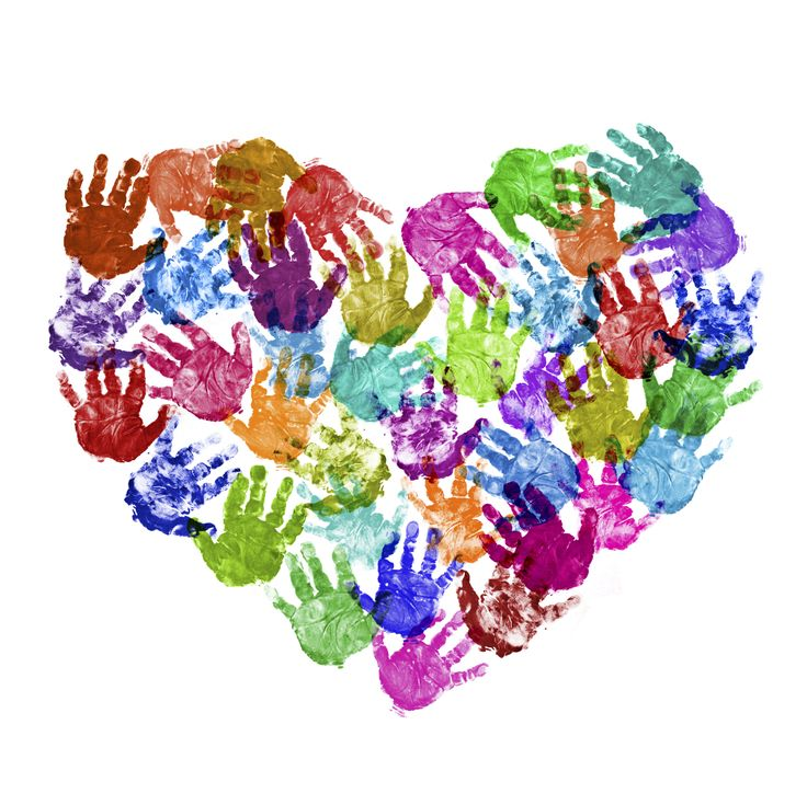 Handprint art heart. Could do all of Hunter's in Green, Tanner in Blue, AnnaLeigh in Hot Pink, Sharly in Yellow. Perfect!!