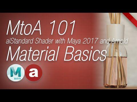 MtoA 101   aiStandard Material Basics   using Arnold with Maya 2017 - YouTube