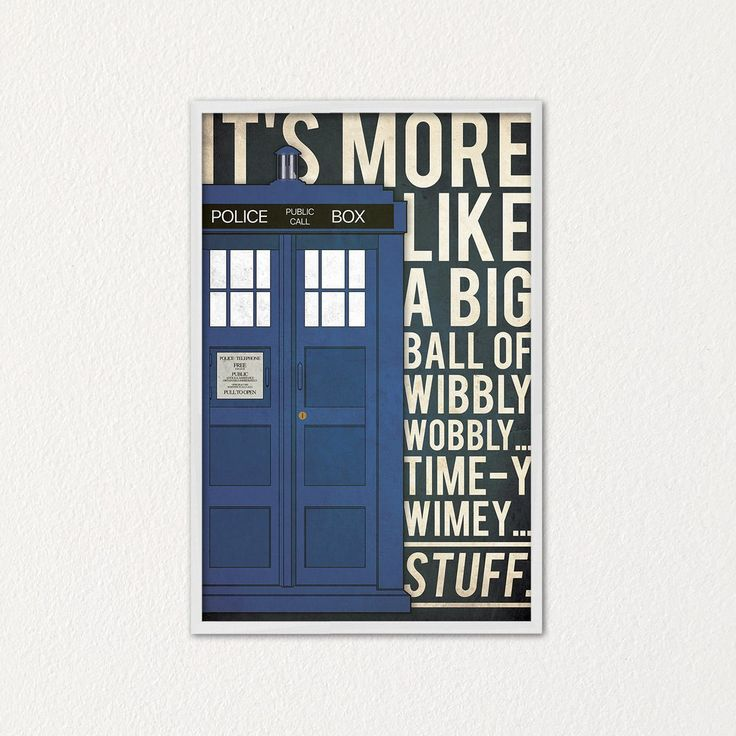 Doctor Who quote poster (blue edition)