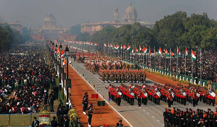 The main Republic Day celebration is held in the national capital, New Delhi, at the Rajpath before the President of India.