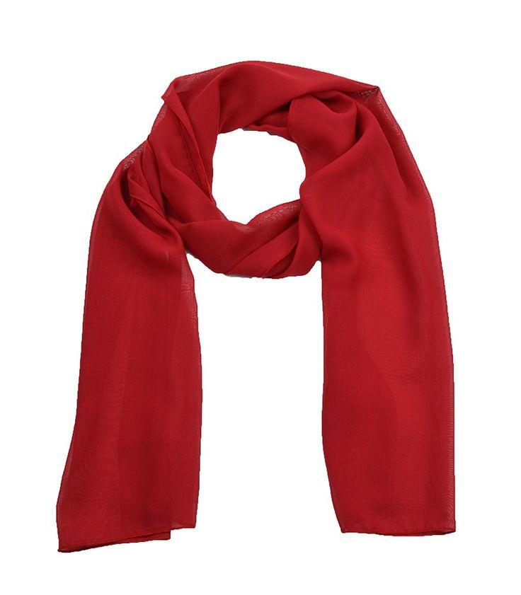 Echarpe Vermelho, com toque macio e caimento leve, confeccionado no tecido chiffon vermelho. Atemporal, echarpes e lenços são peças importantes no guarda-roupa feminino. Esta echarpe é super leve e pode ser usada tanto no verão quanto no inverno. Chá de Mulher