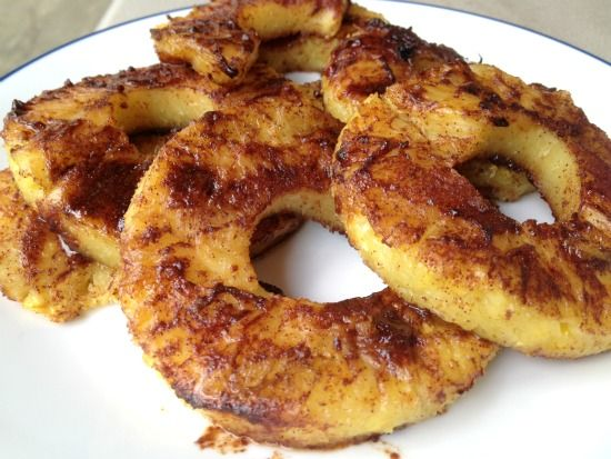 Cinnamon grilled pineapple -- super easy summer dessert when you're already grilling dinner.