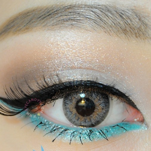 GEO Sparkling Grey circle lens colored contacts cosmetic color circle lenses from EyeCandy's