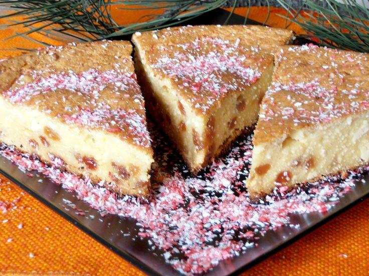 Mazsolás túrós süti piskóta nélkül! Vaníliás, lágy finomság, remek édesség!!