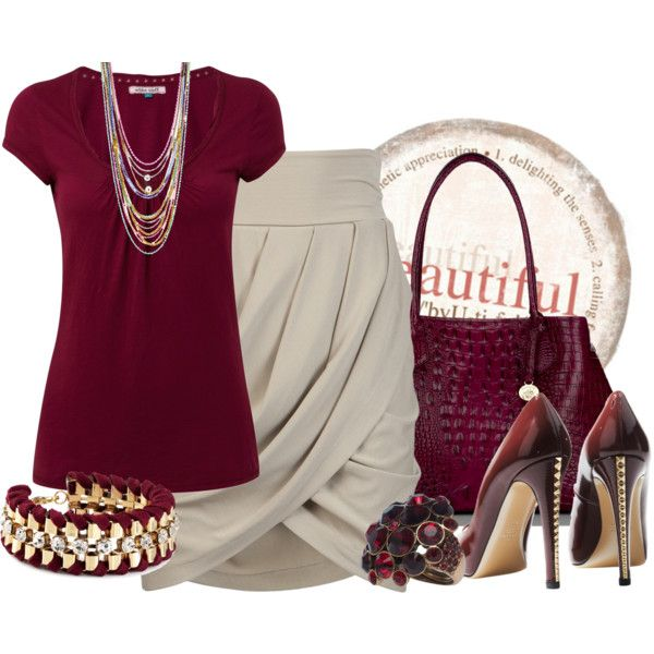 """Cabernet and Gray"" by tacciani on Polyvore"