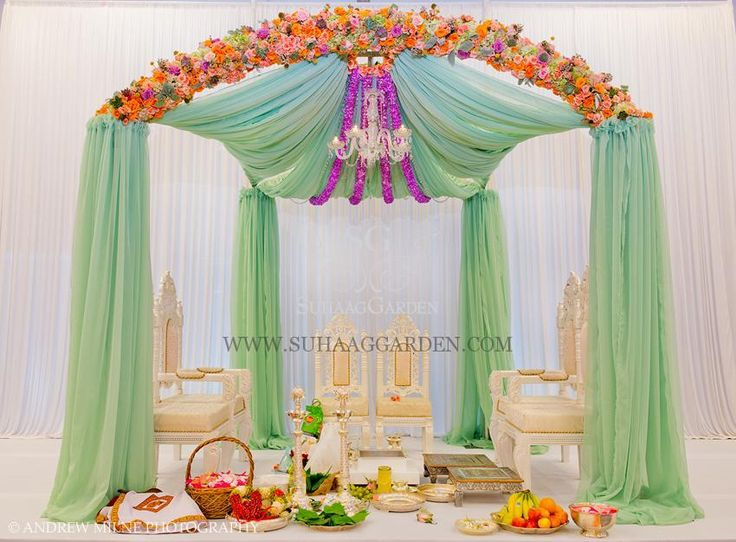 Orchid Lavender Mint Indian Wedding Color Inspiration