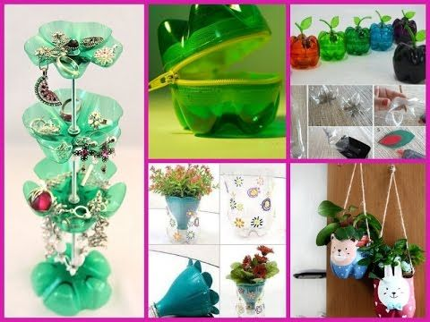 41 best diy recycled materials project images on pinterest for Creative use of waste plastic bottles