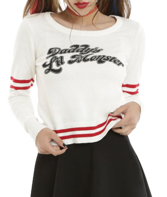 The sweater that will become your go-to this fall.   16 Pieces Of Harley Quinn Swag You'd Be Crazy Not To Buy