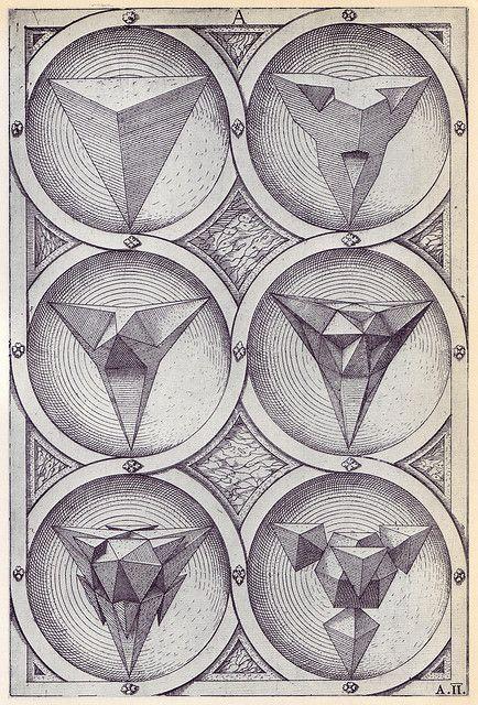 Wenzel Jamnitzer, Perspectiva Corporum Regularium, 1568 / Sacred Geometry <3