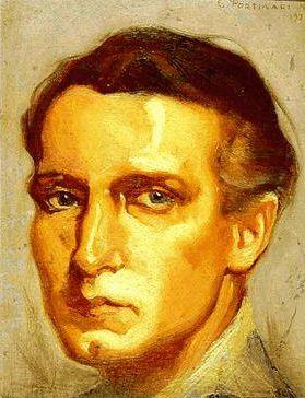 Self portrait by Candido Portinari (Brazilian 1903-1962)