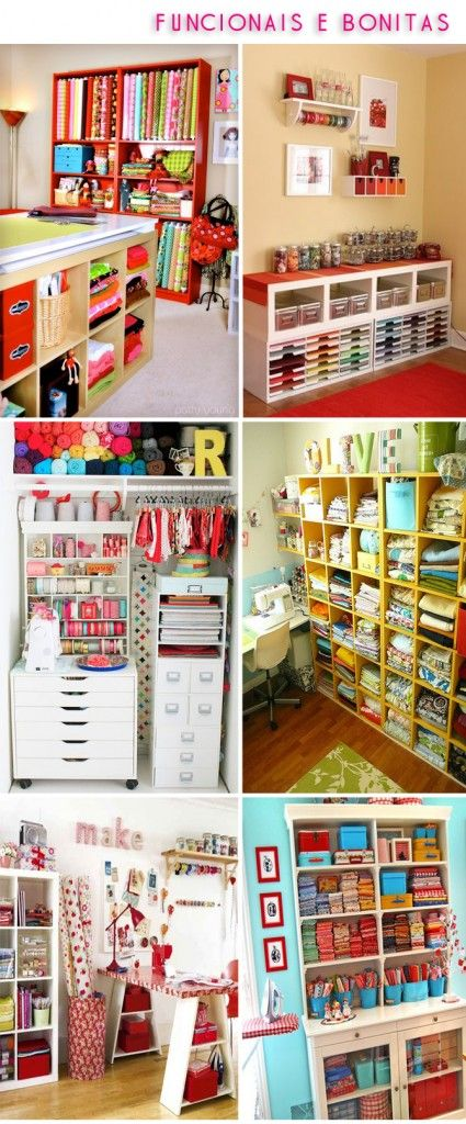 Great Craft room ideas....a girl can dream.....